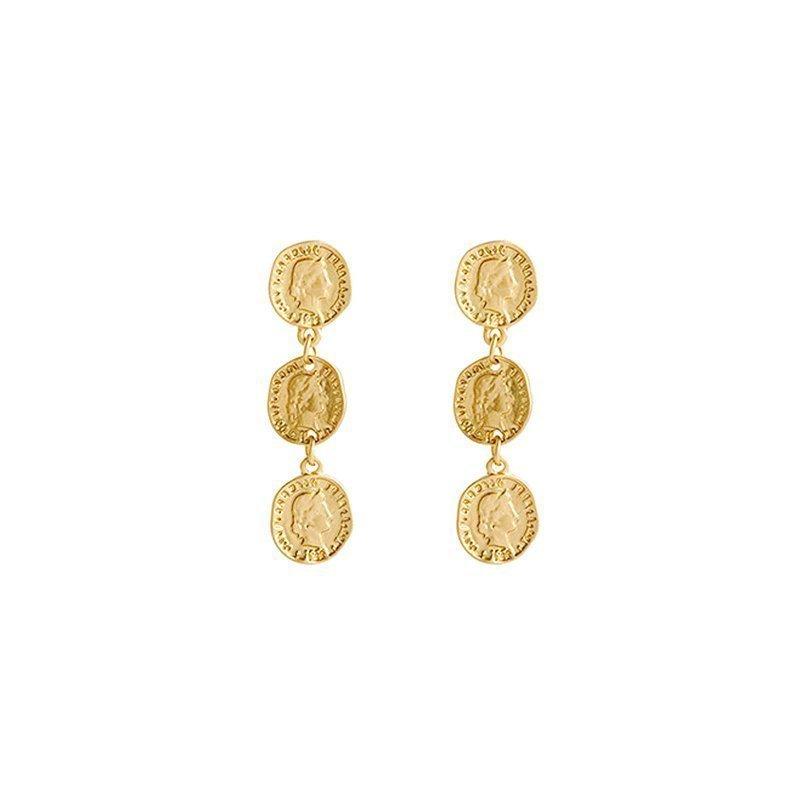 158ad5edd Helvetica Coin Drop Earrings - Tiny Trinket - Online Shopping ...