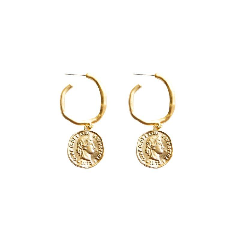 84cf78ef1 Helvetica Hoop Earrings - Tiny Trinket - Online Shopping Fashion ...